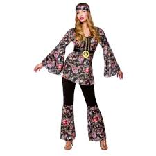 Hippie Halloween Costumes 1960s Style Peace Lovin Hippie Hippy Fancy Dress Party Halloween