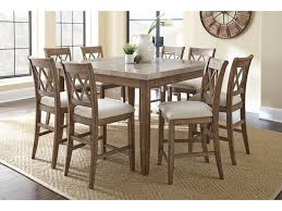 steve silver dining room franco pub table and four chiars