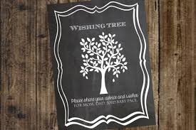 birthday wish tree items similar to wishing tree chalkboard printable sign poster