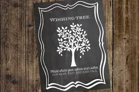 birthday wish tree wishing tree chalkboard printable sign poster wedding