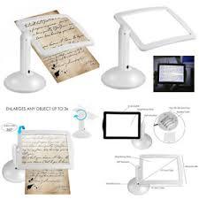 loupe de bureau mains libres mains libres 3x lecture pleine page loupe led table le de bureau