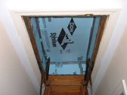 insulating hideaway stairs styrofoam insulation attic stairs