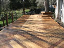 custom made decks using cedar composite materials brazilian