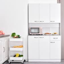 white storage cabinet for kitchen homcom kitchen pantry cupboard wooden storage cabinet
