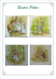 hand made hand painted tles hand painted tiles tile murals catalogue of past work beatrix potter