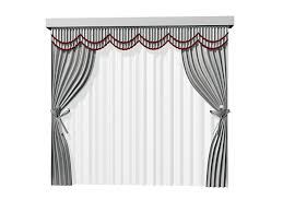 Tie Back Curtains Tie Back Curtains With Sheer And Pelmet 3d Model 3dsmax Files Free