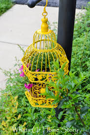 18 beautiful garden decor ideas with birdcage planters style