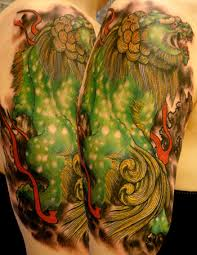 foo dog lion japenese fu dog and lion tattoos