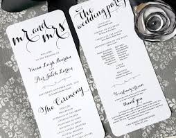 printed wedding programs 86 best wedding programs images on