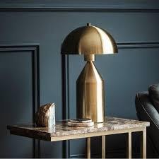 eclairage de bureau lampe de bureau rétro hudson en métal doré éclairage moderne