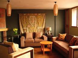 Ethnic Sofas Living Room Fascinating Brown And Orange Living Room Orange