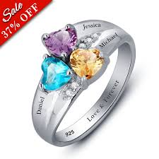 cheap mothers rings personalized ring with birthstones rsnamenecklace