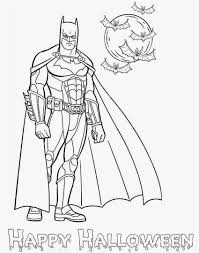 Happy Halloween Coloring Page by Superhero Batman Coloring Pages For Kids Womanmate Com