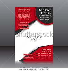 vector design flyer poster template your stock vector 225383947