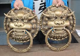 aliexpress buy free 16 brass fengshui fu foo dog