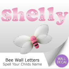 wall letter alphabet initial sticker vinyl stickers decals name bumble bee name wall letter stickers