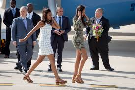 michelle obama and queen letizia of spain stroll together in