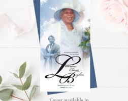 Funeral Program Covers Funeral Memorial Program Cover Celebration Of Life Funeral
