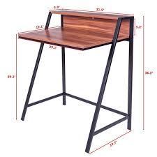 amazon com tangkula 2 tier computer desk home office wood writing