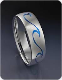 can titanium rings be engraved wave titanium ring
