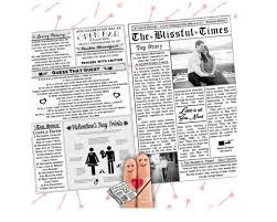 newspaper wedding program 37 best wedding newspaper images on weddings wedding