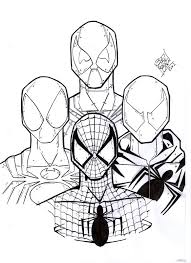 cartoon printable deadpool spiderman coloring pages