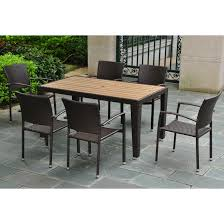 Seven Piece Patio Dining Set - resin