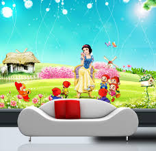 kids wall mural promotion shop for promotional kids wall mural on custom photo wallpaper 3d kids baby room mural snow white dwarfs painting 3d bedroom wall mural wallpaper non woven wall sticker