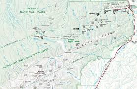 denali national park map denali national park and preserve national parks usa