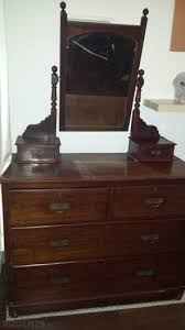 antique dressing table chest of drawers with mirror for sale in