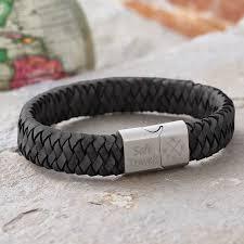 leather bracelet man images Men 39 s traveller compass personalised leather bracelet by jpg