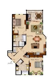 3 Bedroom Condo Floor Plan by 25 More 3 Bedroom 3d Floor Plans 5 Loversiq