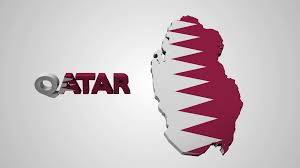 Maroon And White Flag Nice Animation Of The National Qatar Flag In 3d Map Of Qatar