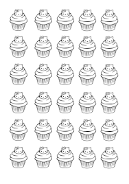 cupcakes kitty cup cakes coloring pages adults