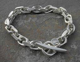 silver chain bracelet ebay images Neoteric ideas mens silver bracelets 11mm chunky curb link jpg