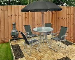 6 Piece Patio Set by Kingfisher 6 Piece Garden Patio Set Gardiner Haskins Homecentre