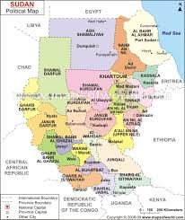 africa map khartoum khartoum map and khartoum satellite image