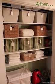 stylish u0026 organized linen closet u2013before u0026 after simplified bee