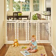 Child Gate Stairs by Amazon Com Extra Wide Gate Ivory Fits Spaces Between 22