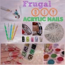 diy acrylic nails on the cheap