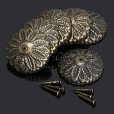 Upholstery Pins 50pcs Vintage Bronze Floral Upholstery Nail Tack Studs Pins