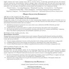 Example Accounting Resumes by Example Project Accountant Resume Free Sample Professional