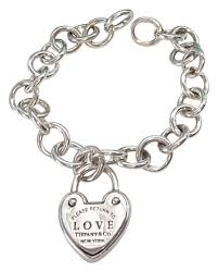 tiffany bracelet love images Tiffany co love lock heart charm circle link opening end jpg