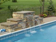 waterfalls for inground pools pool fountains and waterfalls look of a waterfall to any pool