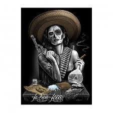 la vida loca by david gonzales tattoo art print poster purple