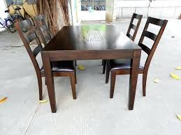 solid wood dining room sets dining room table for 4 varnished brown solid wood dining table