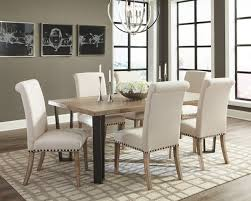 natural wood dining room tables 107431 donny osmond dining table in natural wood w options
