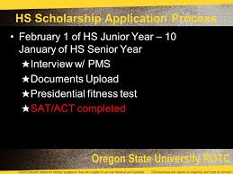 oregon state university rotc incentives are based on federal
