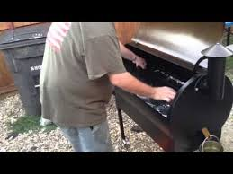 Traeger Fire Pit by Traeger Pellet Grill Set Up And Cooking On Grill Youtube