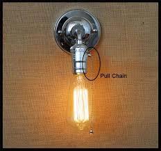 Pull Chain Sconce 2017 120v 230v Pull Chain Switch Scone Wall Lights E27 Chrome